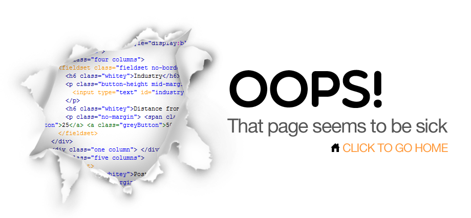 Oops! That page seems to be sick. Click to go home.